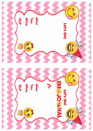 emoji birthday invitations u2013 birthday printable