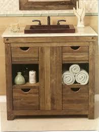 Rustic Bathroom Furniture Bathroom Single Rustic Bathroom Vanities With Drawers Semi Built
