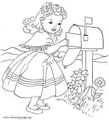 mailing valentine u0027s card coloring coloring