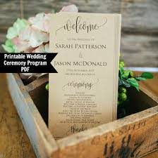 vintage wedding program template 14 wedding program templates editable psd ai format