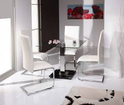 Extendable Glass Dining Table Square Dining Tables For 4 Glacier Square 4 Post Dining Table With