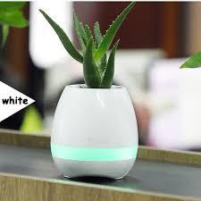 christmas gift decration plant vasr white blue pink music pot pant