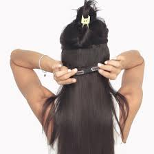 hair extensions on hair clip in hair extensions brown color 2 160 grams luxy hair