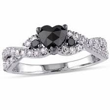 Flower Wedding Ring by Black Diamonds Collections Zales