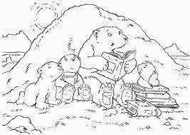 polar bear color page lars the little polar bear and his parents coloring pages batch