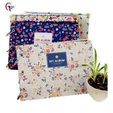 photo album pages sticky handmade 10 inches diy photo album foral cover graffiti pages