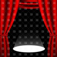 red stage curtain and light spot vector image 886 u2013 rfclipart