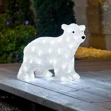 Polar Bear Christmas Decoration Uk by Acrylic Displays Uk Christmas World