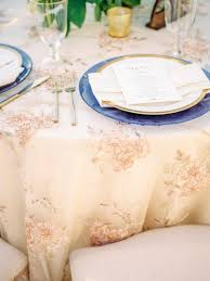 Light Pink Table Cloth Personalized Navy Blue Winter Wedding At Powel Crosley Estate In