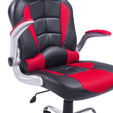 Recliner Office Chair Homcom Racing Style Executive Gaming Office Chair Black And Red