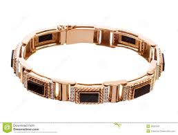 onyx bracelet with diamonds images Mens gold bracelet with diamonds and onyx isolated on a white jpg