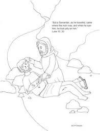 good samaritan color pages bible jesus and his parables