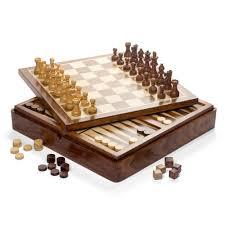 italfama wooden magnetic chess checkers u0026 backgammon set