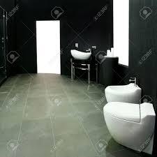 Bathroom With Black Walls Unusual Dark Style Bathroom With Black Walls Stock Photo Picture