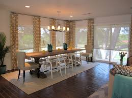 solar shades with geometric pattern curtains dining room