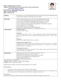Sample Resume Net Developer by Latest Resume C C Developer