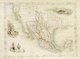 map of mexico and california tallis mexico california and