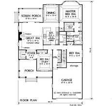Donald A Gardner Floor Plans Home Plan The Jarrell By Donald A Gardner Architects