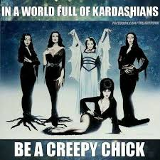 Creepy Girl Meme - image result for in a world of kardashians be a creepy girl basket
