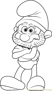 smurf coloring pages papa smurf coloring page free smurfs the lost village coloring