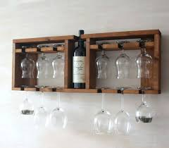 wine glass cabinet wall mount wine rack wooden glass shelf wine glass rack brown shelf kitchen