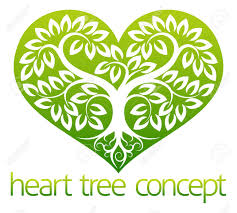 an abstract illustration of a tree growing into the shape of