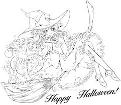 Free Coloring Pages For Halloween To Print by Halloween Colorings