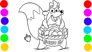 coloring pages tico squirrel from dora the explorer coloring book