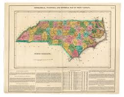 Map Of Raleigh Nc Geographical Statistical And Historical Map Of North Carolina 1823