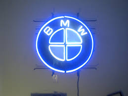 bmw logos bmw logo neon sign 27 inch diameter looks great