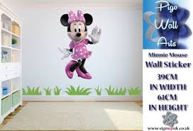 minnie mouse wall sticker childrens bedroom wall decal mural large minnie mouse wall sticker
