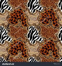 seamless vector pattern animal print spots stock vector 427768372
