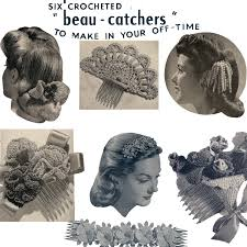 1940s hair accessories crocheted hair ornament patterns leaflet 112 b