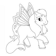 dessin de coloriage petit poney à imprimer cp20824
