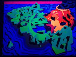 Calvin Seibert Black Light Painting 2 U2013 Sand Castle Augmentation Light U0026 Color Lab