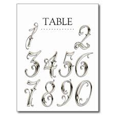 wedding table number fonts any color table numbers fancy silver number fonts font free and fonts