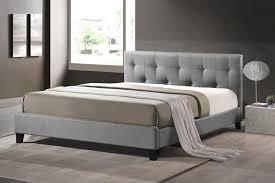 Full Size Upholstered Headboard by Baxton Studio Bbt6140a2 Full Grey De800 Annette Gray Linen Modern