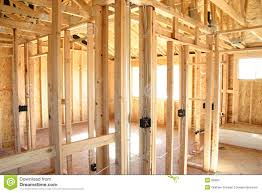 wooden frame house interior stock images image 83904