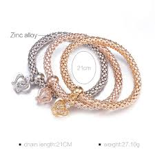 rose color bracelet images Silver gold rose gold three colors bracelet with little crown jpg