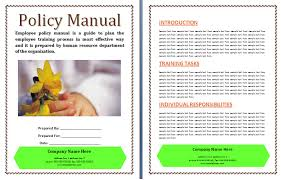 office work manual template free printable word templates