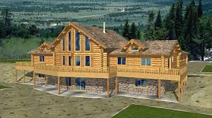 Wrap Around Porch Floor Plans by Plans With Basement Log Home Plans With Wrap Around Porch 5