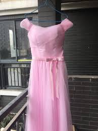 sleeve long bridesmaid dresses sky blue tulle wedding party dress