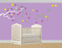 vinyl decal blowing in wind flower tree branch wall decal