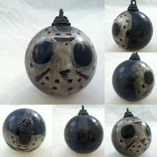 jason voorhees friday the 13th horror ornament by sicklygoregous on