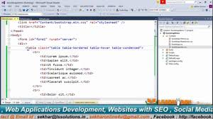 Bootstrap Table Class Using Bootstrap 3 Table In Asp Net Part 2 Video Dailymotion