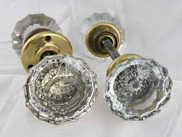 glass antique door knobs antique extra large fluted glass door knob set with rosettes