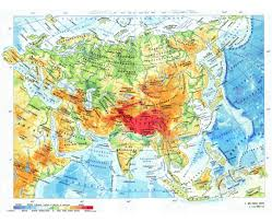 Russia Physical Map Physical Map by Maps Of Asia And Asian Countries Political Maps Road And