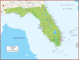 Florida Map Of Beaches by Florida Physical State Map