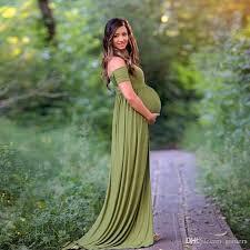 2017 maternity dress for photo shooting boat neck white dress