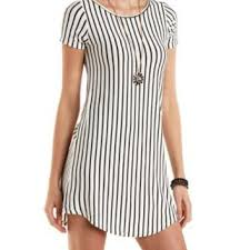 vertical striped t shirt shift dress by from charlotte russe